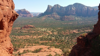 Bell Rock. Desert Hiking in Sedona, Arizona.