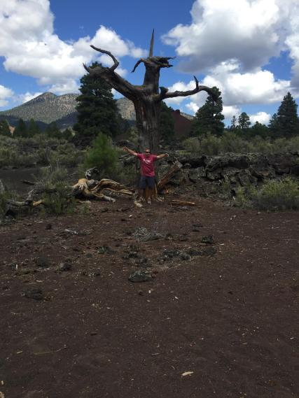 Sunset Crater. Hiking Arizona. Flagstaff. Old Man Hking.