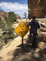 Hiking in Grand Canyon. Old Man Hiking Rusty Ward
