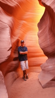 Lower Antelope Canyon. Hiking Page, Arizona. Old Man Hiking.