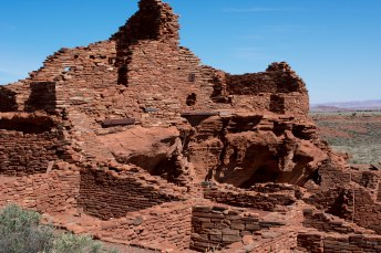 Hiking Arizona. Wupatki Ruins Flagstaff Old Man Hiking