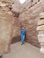 Old Man Hiking Wupatki Ruins in Flagstaff Arizona