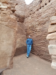 Old Man Hiking Wupatki Ruins in Flagstaff Arizona