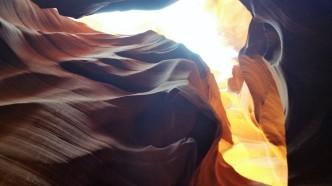 Lower Antelope Canyon. Hiking Page, Arizona. Old Man Hiking.