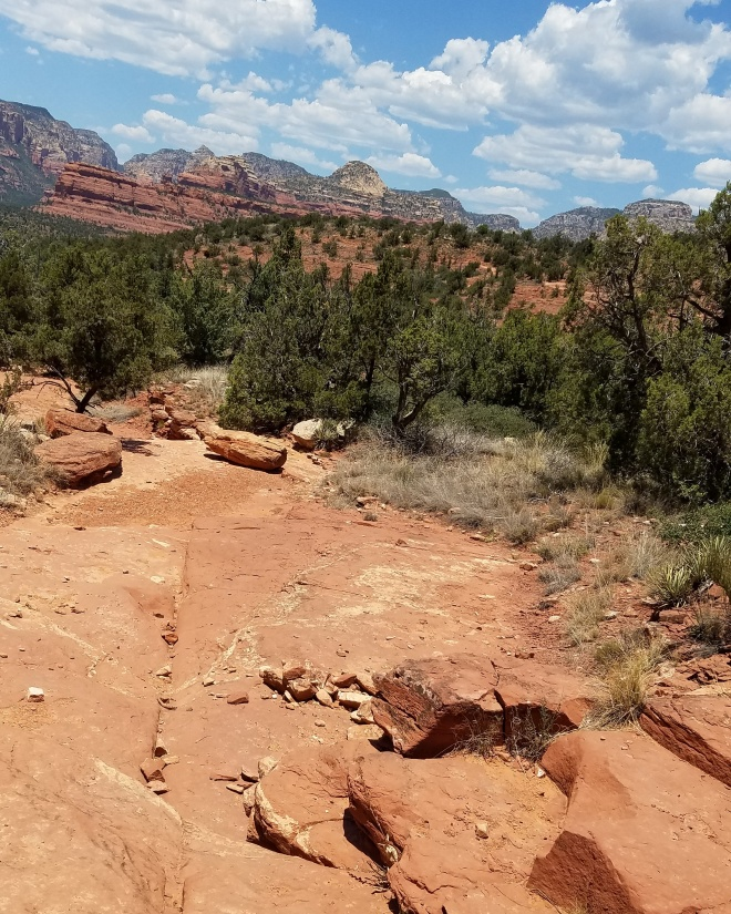 Hiking Desert Trail Sedona Arizona